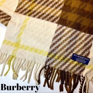Burberry Cashmere Scarf Nova Check Cream Brown